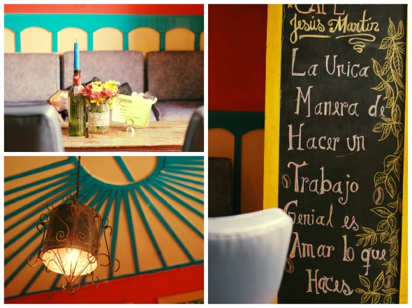 Café Jesús Martín where you can enjoy the original to my knock-off recipe. Beautiful decor.